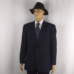 TownCraft navy pinstripe blazer men's size 44R.